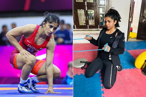 Vinesh Phogat (L) had refused to attend the national camp while Sakshi Malik was unsure. (Photo Credit: Vinesh Phogat and Sakshi Malik Twitter)