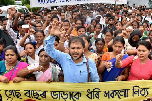 File photo of jailed activist Akhil Gogoi.