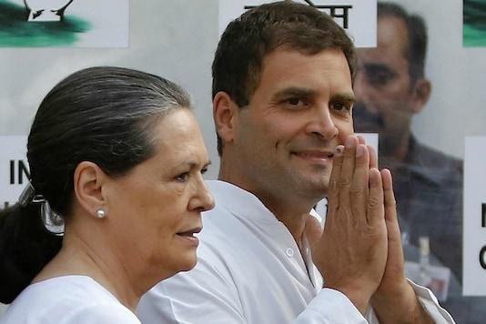File photo of Sonia Gandhi with Rahul Gandhi