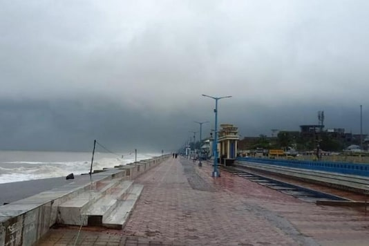 The promenade along the Bay of Bengal coast stands deserted ahead of Cyclone Amphan landfall, at Chandbali, in the eastern Indian state of Orissa, Wednesday, May 20, 2020. A powerful cyclone is moving toward India and Bangladesh as authorities try to evacuate millions of people while maintaining social distancing. Cyclone Amphan is expected to make landfall on Wednesday afternoon, May 20, 2020, and forecasters are warning of extensive damage from high winds, heavy rainfall, tidal waves and some flooding in crowded cities like Kolkata. (AP Photo)