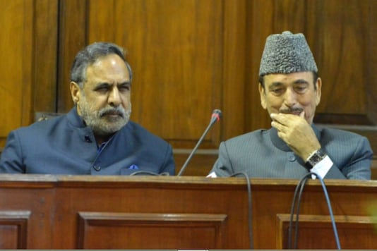 File photo of Ghulam Nabi Azad and Anand Sharma