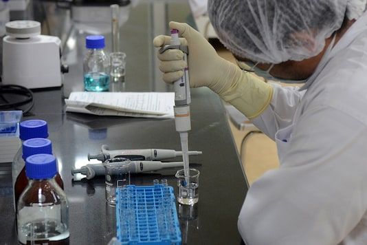 A research scientist works inside a laboratory of India's Serum Institute, the world's largest maker of vaccines, which is working on vaccines against the coronavirus disease (COVID-19) in Pune. (Image used for representation: Reuters)