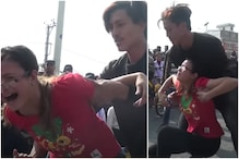 Viral Video Depicting Man Publicly Assaulting a Woman in Nepal as Cops Watch is Fake