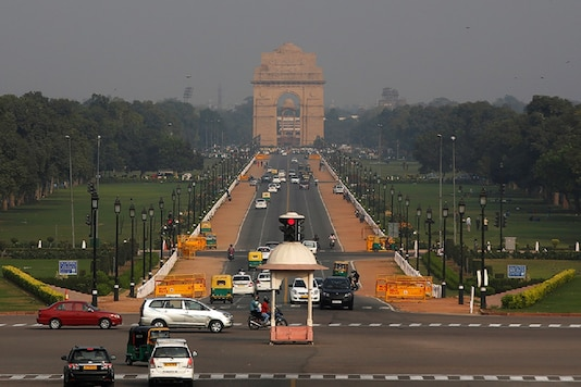 File photo: Vehicles move past the India Gate war memorial in New Delhi. (Reuters)