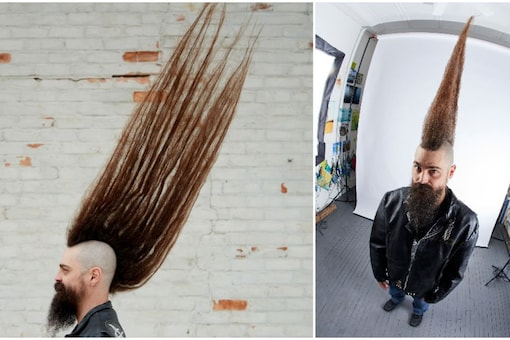 Joseph Grisamore broke the Guinness World Record for the tallest mohawk. Credits: GWR