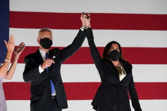 File photo of the 46th US President Joe Biden, and Vice-President Kamala Harris.