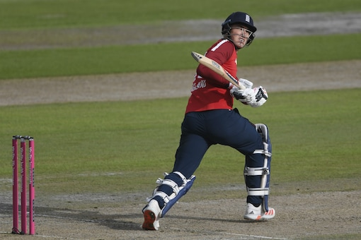 Tom Banton hits a six with a reverse hit (Image: AP)
