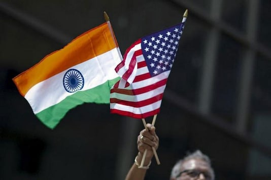 File photo of Indian and US flags.