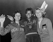 Wilma Rudolph Turns in Triple Gold Performance in 1960 Rome Olympics