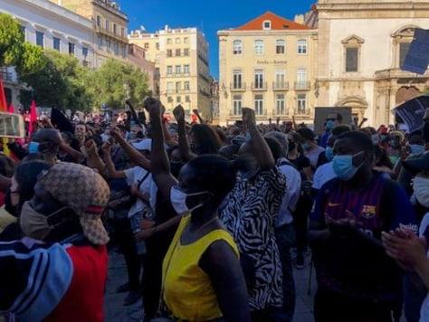 'Racism kills': hundreds protest after Black actor shot dead in Lisbon