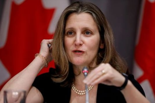 Canada's Trudeau to tap ally Freeland as finance minister -media reports