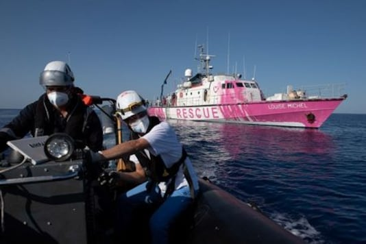 Banksy's Migrant Rescue Boat Says Overloaded, Stranded At Sea