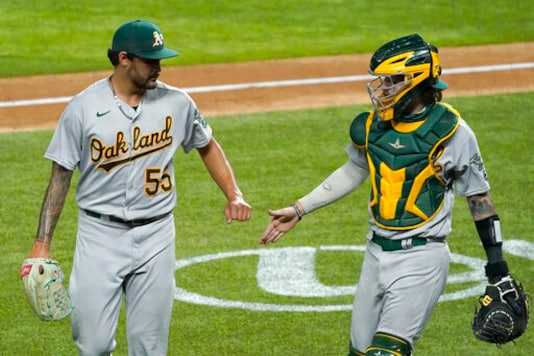 Olson, Semien Homer As A's Cruise To 10-3 Win Over Rangers