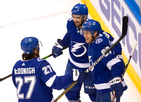 Kucherov, Lightning beat Capitals in East round-robin play