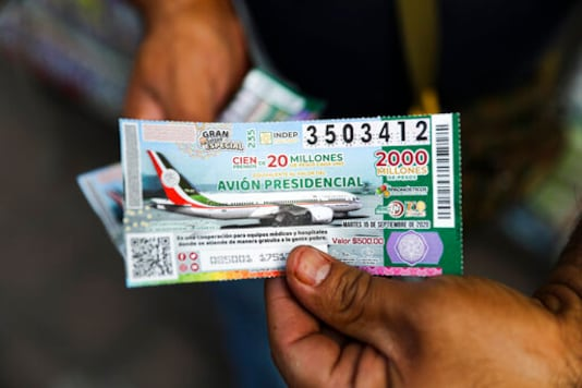 Mexico sells only 1/3 of presidential jet lottery tickets