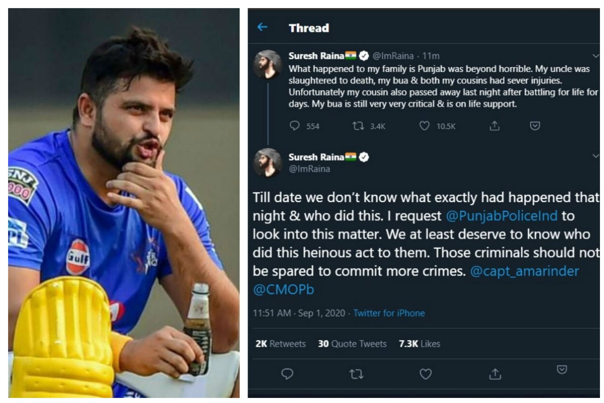 Suresh Raina Speaks Out on Death of Relatives, Asks Punjab Police to Look into Matter
