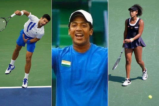 Novak Djokovic (L), Mahesh Bhupathi (C) and Naomi Osaka. (Photo Credit: AP and Mahesh Bhupathi Instagram)