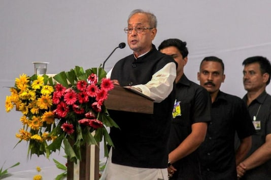 Nagpur: Former president Pranab Mukherjee speaks during the closing ceremony of 'Tritiya Varsha Sangh Shiksha Varg', an (RSS) event to mark the conclusion of a three-year training camp for Swayamsevaks, in Nagpur on Thursday, June 07, 2018. (PTI Photo)