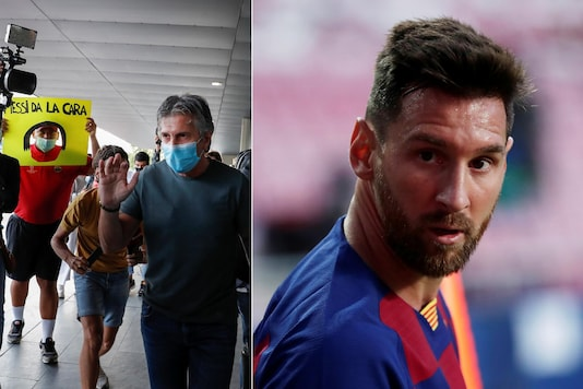 Jorge Messi (L) arrived in Barcelona to talk to the club about his son's future. (Photo Credit: Reuters)