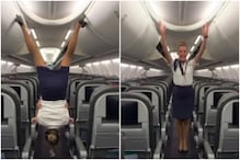 Flight Attendant's Viral Acrobatics Onboard Grounded US Aircraft are Taking Internet for a Spin