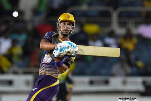 Lendl Simmons smashed 96 in the CPL 2020 Fixture against St Kitts and Nevis Patriots.