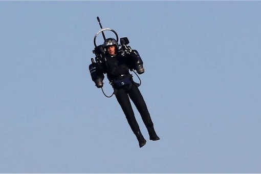 American authorities were probing pilots' reports that they saw a man flying a jetpack. Credits: AFP