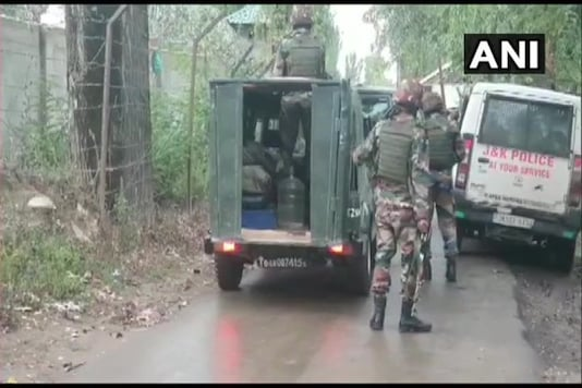 As the security forces zeroed in on the spot where terrorists were hiding they came under a heavy volume of fire that triggered the encounter. (Image: ANI)