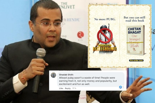 Chetan Bhagat recently shared a PUBG meme to promote his new book 'One Arranged Murder' | Image. credit: Reuters/Facebook/