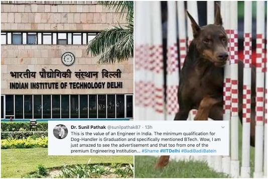 A dog handler's job posting by IIT Delhi is going viral on social media | Image credit: Representational (PTI/Reuters)
