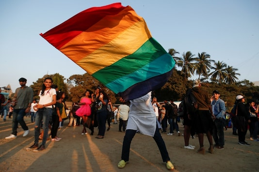 File photo of  participant waving a flag during Queer Azadi Pride, an event promoting gay, lesbian, bisexual and transgender rights, in Mumbai. (REUTERS)