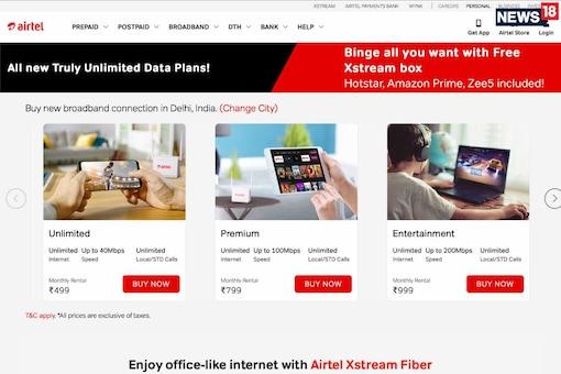 Airtel Xstream Vs Reliance JioFiber: Airtel Xstream Broadband Plans Get Unlimited Data And New Rs 499 Plan