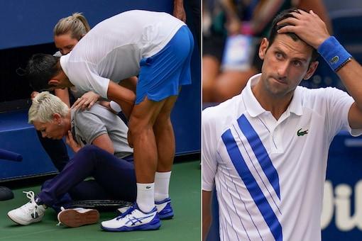 Novak Djokovic accidentally hit the line judge at US Open. (Photo Credit: AP)