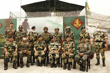 DG BSF Rakesh Asthana Visits Frward Areas in Kashmir