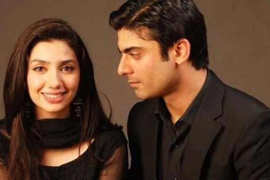 Actor Mahira Khan and Fawad Khan in a poster from their drama Humsafar.