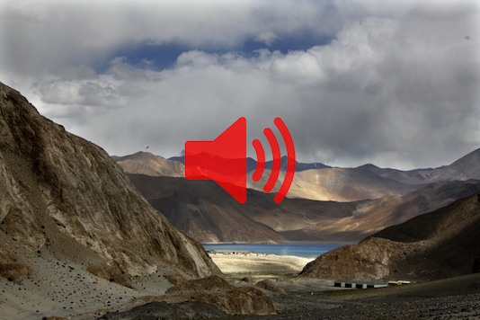 In this September 14, 2017 photo, Pangong Lake is seen near the India-China border in India's Ladakh area. (AP Photo/Manish Swarup, file)
