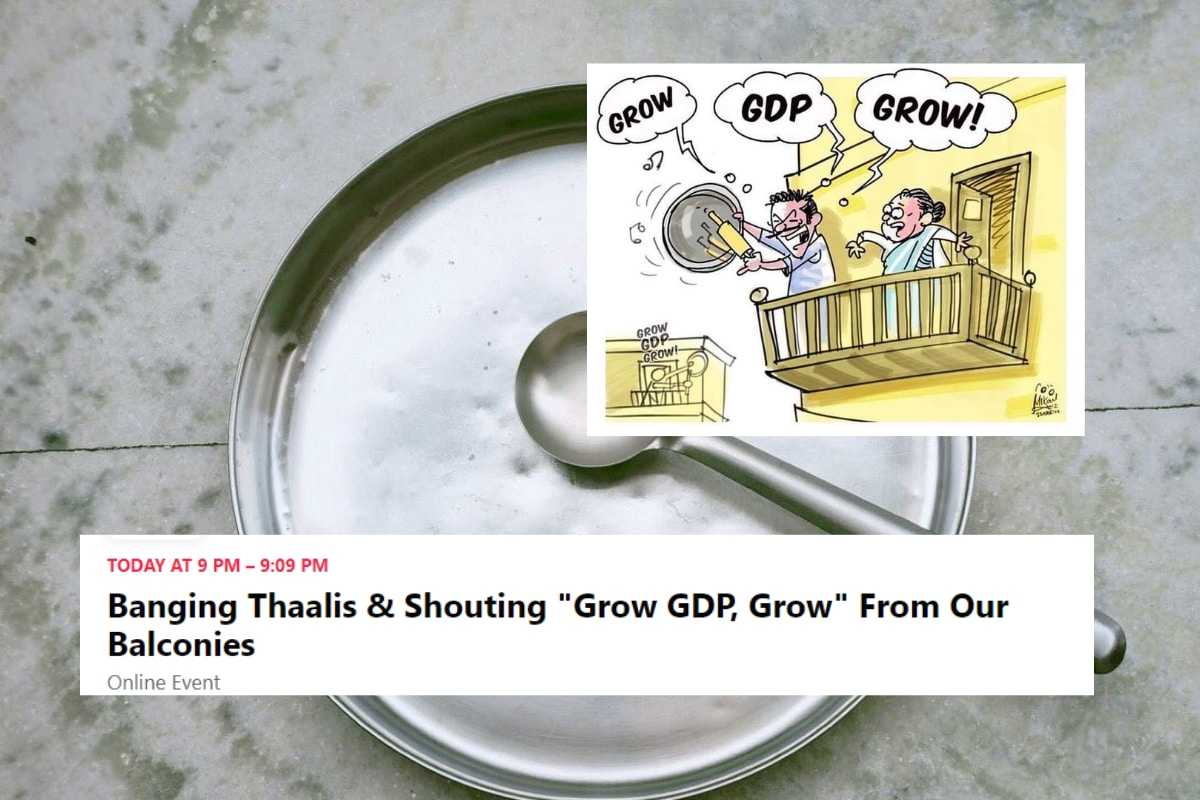 Parody Event Asking Indians to 'Bang Thaali' and Yell 'Grow GDP Grow' Has Over Twenty Thousand Sign Ups