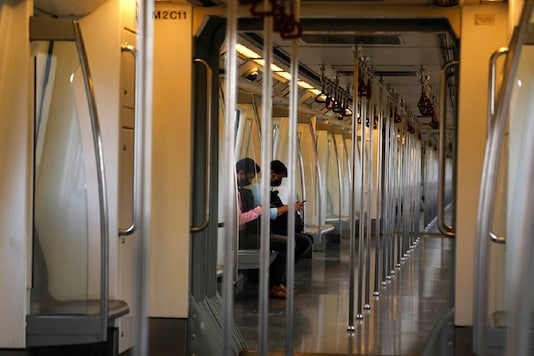 Metro trains are running on a reduced frequency during the six-day lockdown in Delhi over an exponential rise in coronavirus cases.