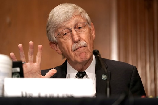 Dr Francis Collins, Director of the National Institutes of Health, testifies during a Senate Health, Education, Labor and Pensions Committee hearing to discuss vaccines in Washington. (Credit: REUTERS)