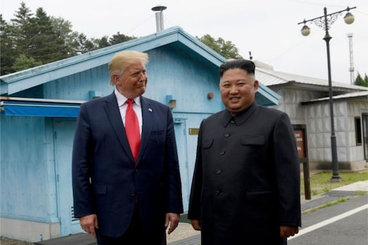 File photo of President Donald Trump meeting with North Korean leader Kim Jong Un at the border village of Panmunjom in the Demilitarized Zone, South Korea.