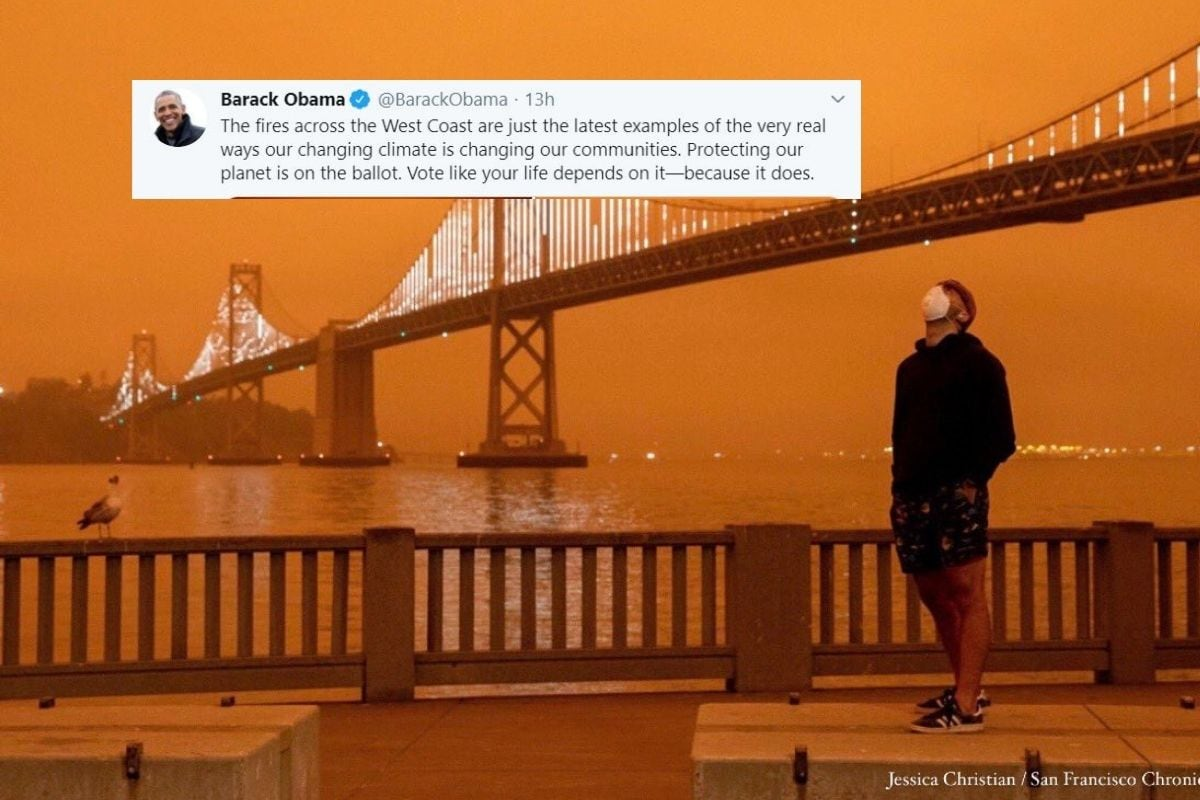 Barack Obama Shares Viral Images of Orange Skies after California Wildfire, Warns of Climate Change