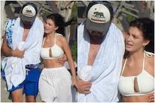 Leonardo DiCaprio Enjoys Beach Time with Camila Morrone, See Pics