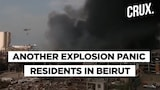 Huge Fire Erupts At A Oil Warehouse In Beirut Port
