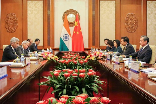 File photo of External Affairs Minister S Jaishankar's bilateral meeting with Chinese foreign minister Wang Yi in Beijing, on August 12, 2019. (PTI)