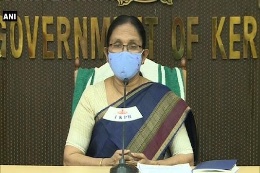 File photo of Kerala Health Minister KK Shailaja. (Credit: ANI/Twitter)
