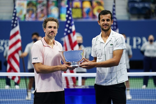 Bruno Soares (L) and Mate Pavic. (Photo Credit: US Open Twitter)