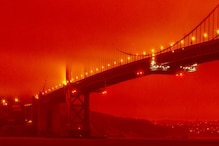 In Pictures: Massive Fire & Thick Smoke Turns Skies Orange in California