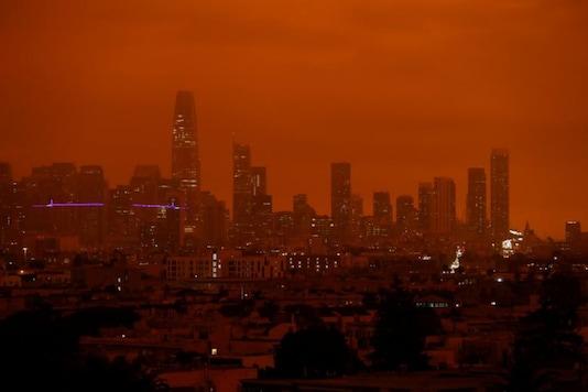 California skies turn orange. Credit: Reuters