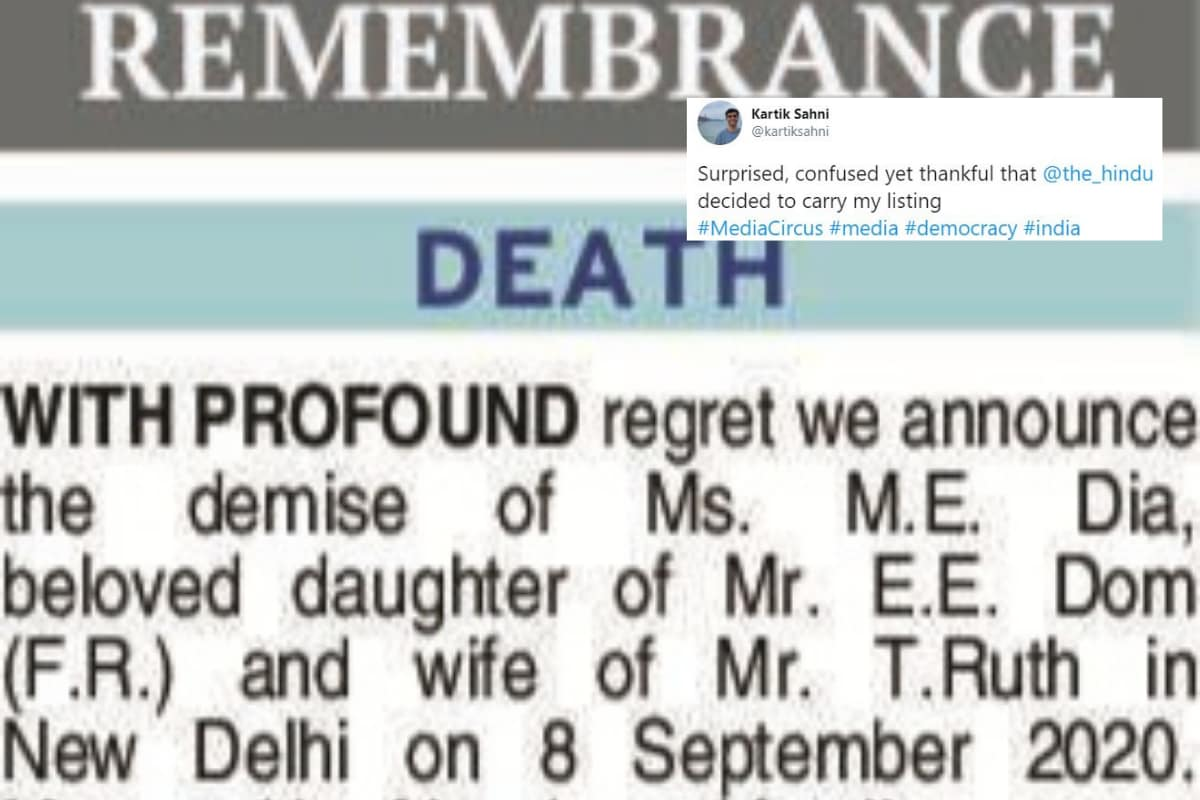 Someone Wrote a Clever Obituary for Media and a Newspaper Published it Too