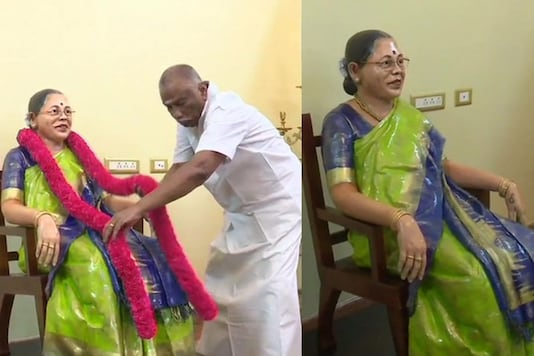 Madurai business man installs life-size statue of late wife. (Credit: ANI)
