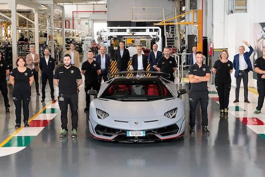 The 10,000th Lamborghini Aventador. (Photo: Lamborghini)